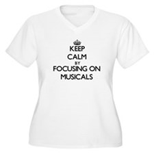 Keep Calm by focusing on Musical Plus Size T-Shirt