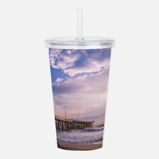 Blue Skies in Morning Acrylic Double-wall Tumbler