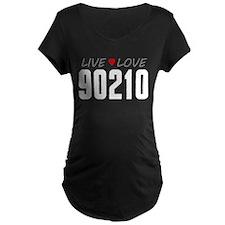 Live Love 90210 Dark Maternity T-Shirt