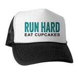 Run hard eat cupcakes Trucker Hats
