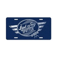 God is My Spotter Aluminum License Plate