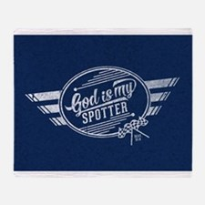 God is My Spotter Throw Blanket