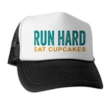 Run Hard Eat Cupcakes Trucker Hat