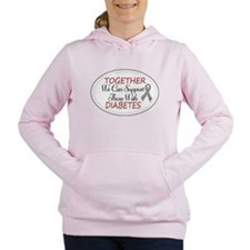 Cute Walk for a cure Women's Hooded Sweatshirt