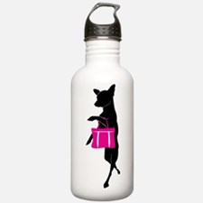 Cute Dog silhouette Water Bottle