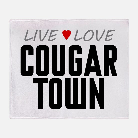 Live Love Cougar Town Stadium Blanket