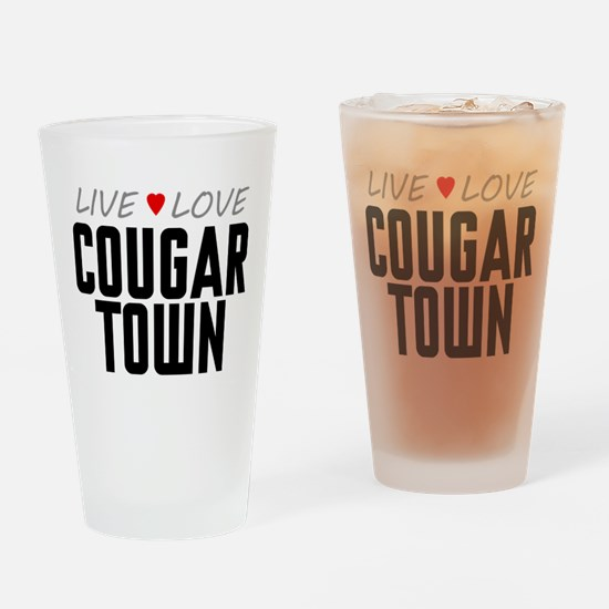 Live Love Cougar Town Drinking Glass