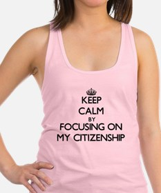 Keep Calm by focusing on My Cit Racerback Tank Top
