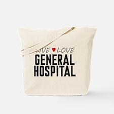 Live Love General Hospital Tote Bag