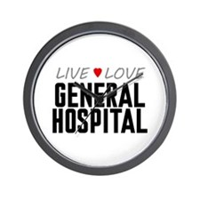 Live Love General Hospital Wall Clock