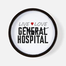 Live Love General Hospital Wall Clock