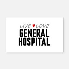 Live Love General Hospital Rectangle Car Magnet