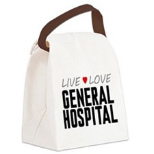 Live Love General Hospital Canvas Lunch Bag