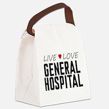 Live Love General Hospital Canvas Lunch Bag