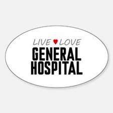 Live Love General Hospital Oval Decal