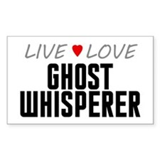 Live Love Ghost Whisperer Rectangle Sticker (50 pa