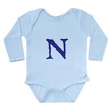 Cute Christmas letter a alphabet womens Long Sleeve Infant Bodysuit