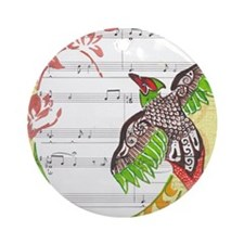 Pheasant Play Ornament (Round)