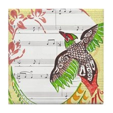 Pheasant Play Tile Coaster