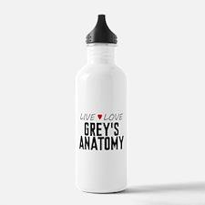 Live Love Grey's Anatomy Water Bottle