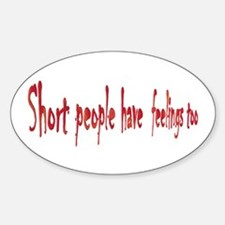 Short People Oval Decal