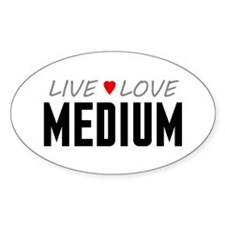 Live Love Medium Oval Decal
