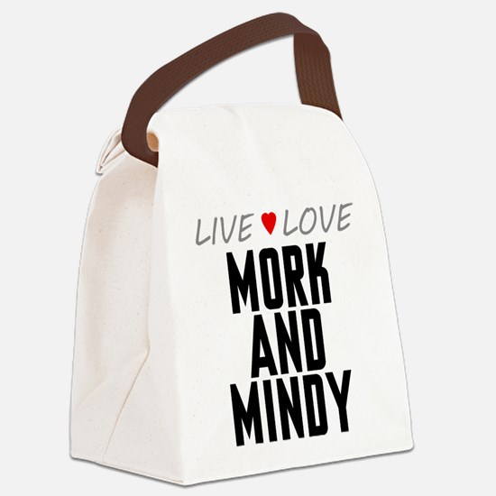 Live Love Mork and Mindy Canvas Lunch Bag