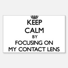 Keep Calm by focusing on My Contact Lens Decal