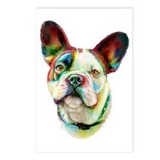 French Bulldog BRT Bust Postcards (Package of 8)