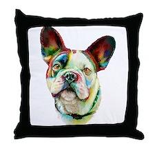French Bulldog BRT Bust Throw Pillow