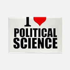 I Love Political Science Magnets