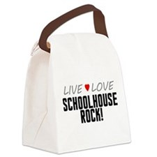 Live Love Schoolhouse Rock! Canvas Lunch Bag