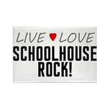 Live Love Schoolhouse Rock! Rectangle Magnet