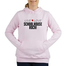 Live Love Schoolhouse Rock! Women's Hooded Sweatsh