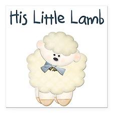 "Lamb Square Car Magnet 3"" x 3"""