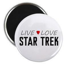 """Live Love Star Trek 2.25"""" Magnet (10 pack)"""