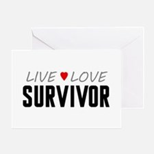 Live Love Survivor Greeting Card