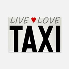 Live Love Taxi Rectangle Magnet