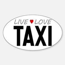Live Love Taxi Oval Decal