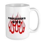 Firefighters Wife Large Mug