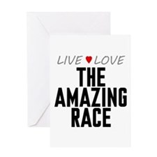 Live Love The Amazing Race Greeting Card