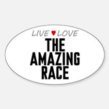 Live Love The Amazing Race Oval Decal