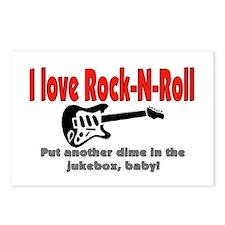 I LOVE ROCK-N-ROLL Postcards (Package of 8)