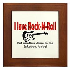 I LOVE ROCK-N-ROLL Framed Tile