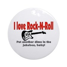 I LOVE ROCK-N-ROLL Ornament (Round)
