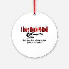 I LOVE ROCK-N-ROLL Ornament (Round)