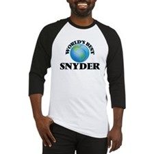 World's Best Snyder Baseball Jersey