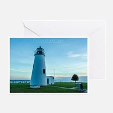 Turkey Point Light Maryland. Greeting Card