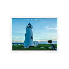 Turkey Point Light Maryland. 5'x7'Area Rug