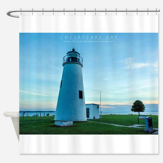 Turkey Point Light Maryland. Shower Curtain
